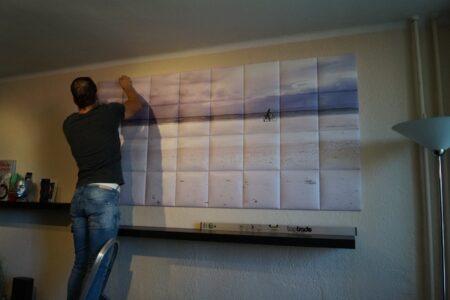 nyomtatott falpanelekből kialakított designképek