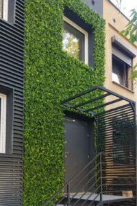 Mesterséges zöld növény faldekoráció